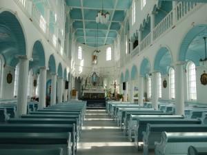 L'Eglise de Rivière-au-Tonnerre (entièrement en bois)