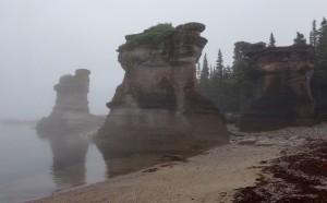 Monolithe sur l'île de Niapiskau